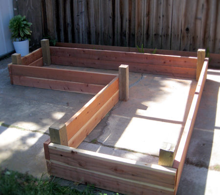 Building a raised garden box