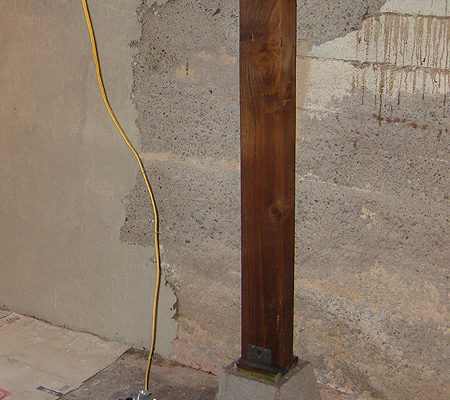 Parging cement walls